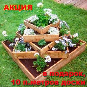 Акция Лесхимпром - доска для грядок в подарок