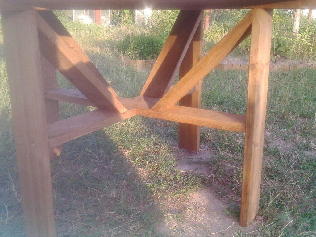 Ноги деревянного стола