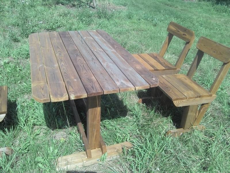 Садовая мебель из дерева для улицы