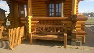 Скамейка из палубной доски
