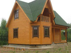 Блок-хаус на доме
