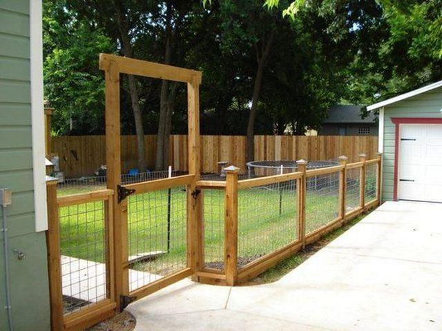 забор с сеткой