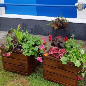square flower box