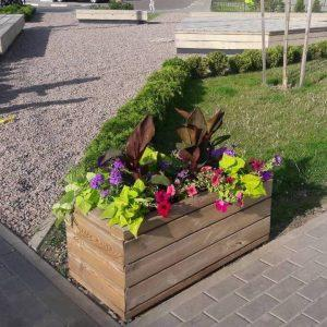 rectangular flower box
