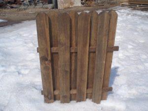 Заборный щит с закругление заборной доски