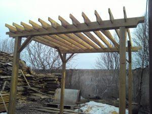Пергола деревянная