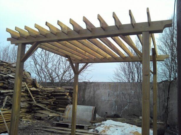МАФ: Пергола деревянная