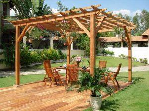 Садовая мебель из дерева и ландшафтные формы - собственное производство