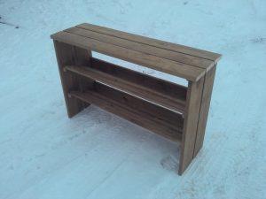 деревянные изделия - полка для обуви