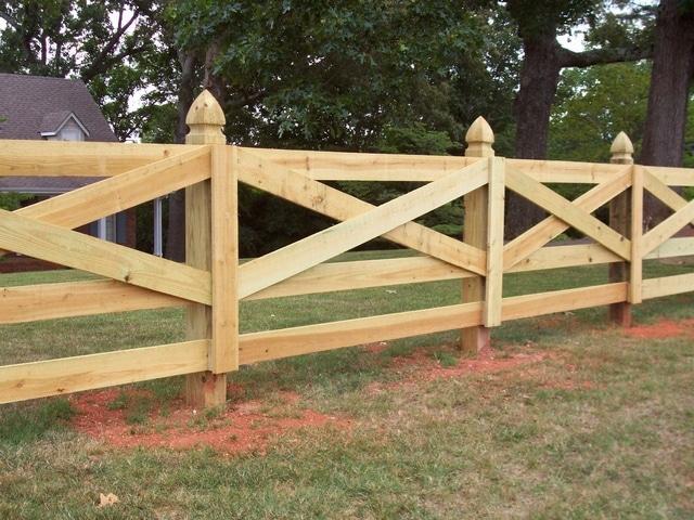 забор ранчо с перекрестием