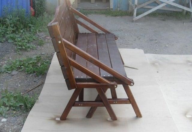 Уличные скамейки из дерева своими руками
