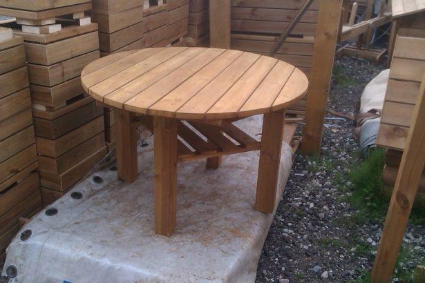 стол круглый садовый