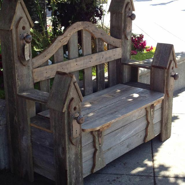 Садовая скамейка сундук